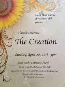 Sacred Music Chorale of Richmond Hill Spring Concert @ St. John's Lutheran Church | New York | United States