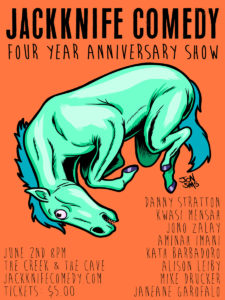 Jackknife Comedy: 4 Year Anniversary @ The Creek and The Cave |  |  |