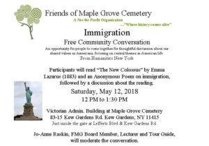 Conversation on Immigration at Maple Grove @ Victorian Admin Building at Maple Grove Cemetery | New York | United States