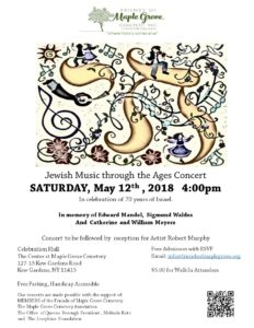 Jewish Music Through the Ages Concert in Kew Gardens @ The Center at Maple Grove Cemetery | New York | United States