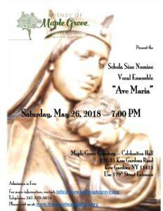 Schola Sine Nomine Free Concert in Kew Gardens @ The Center at Maple Grove Cemetery | New York | United States