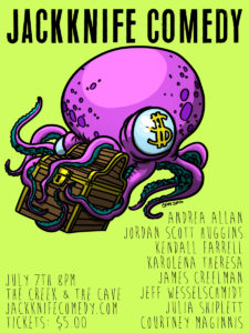 Jackknife Comedy @ The Creek and The Cave |  |  |