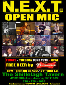 The N.E.X.T. OPEN MIC Showcase: FINALS @ Shillelagh Tavern | New York | United States