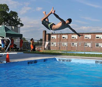 pools in queens