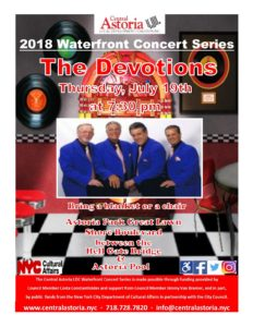"2018 Waterfront Concert Series ""The Devotions"" @ Astoria Park Great Lawn"