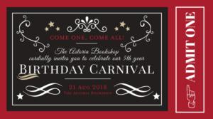Carnival at the Bookshop: The Astoria Bookshop's Birthday Party! @ The Astoria Bookshop