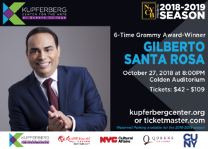 Gilberto Santa Rosa @ Kupferberg Center for the Arts- Colden Auditorium