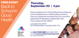 Back to School in Good Health @ Long Island City YMCA
