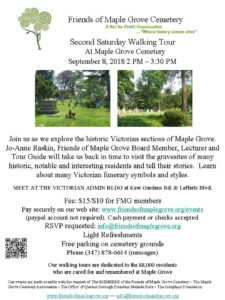 Second Saturday Walking Tour in Kew Gardens @ Maple Grove Cemetery