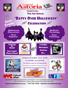 "3rd Annual ""Batty Over Halloween"" Celebration! @ Astoria Park Great Lawn 