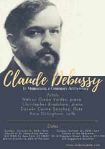 Claude Debussy 100th Anniversary Concert @ Church of the Redeemer | New York | United States