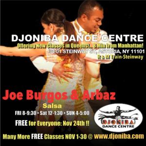 FREE Salsa Class with Piel Canela @ Djoniba Centre @ Djoniba Centre @ RIOULT Dance Center | New York | United States