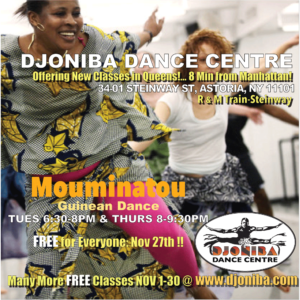 FREE Guinean Dance Class @ Djoniba Centre @ Djoniba Centre @ RIOULT Dance Center | New York | United States