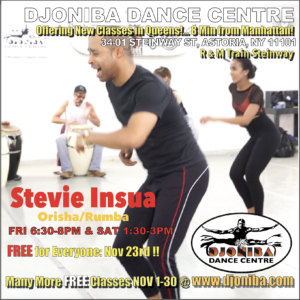 FREE Cuban Rumba/Orisha Dance Class @ Djoniba Centre @ Djoniba Centre @ RIOULT Dance Center | New York | United States