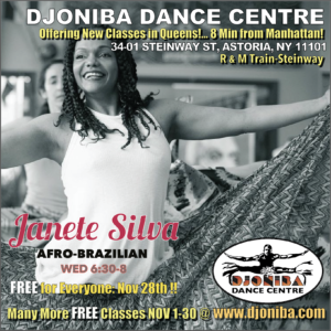 FREE Afro-Brazilian Dance Class @ Djoniba Centre @ Djoniba Dance & Drum Centre | New York | United States
