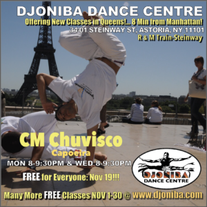 FREE Capoeira with Capoeira Luanda @ Djoniba Centre @ Djoniba Centre @ RIOULT Dance Center | New York | United States