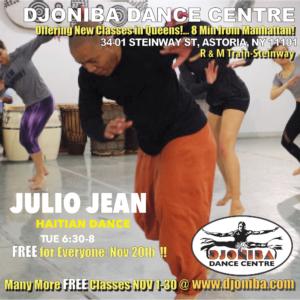 FREE Haitian Dance Class @ Djoniba Centre @  Djoniba Centre @ RIOULT Dance Center | New York | United States