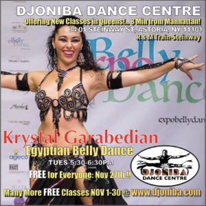 FREE Egyptian Belly Dance Class @ Djoniba Centre @ Djoniba Centre @ RIOULT Dance Center | New York | United States
