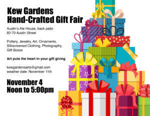 Kew Gardens Hand-Crafted Gift Fair @ Austin's Ale House | New York | United States