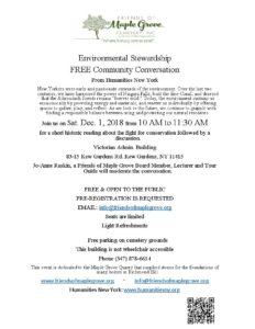 Environmental Stewardship Conversation @ Victorian Admin Building at Maple Grove | New York | United States