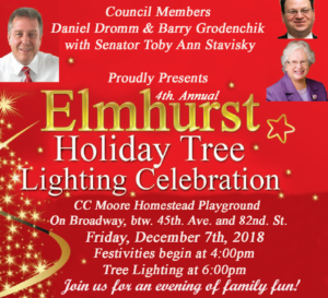 4th Annual Elmhurst Tree Lighting Ceremony @ CC Moore Homestead Playground | New York | United States