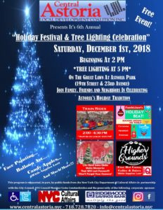 "6th Annual ""Holiday Festival & Tree Lighting Celebration"" @ Astoria Park Great Lawn 