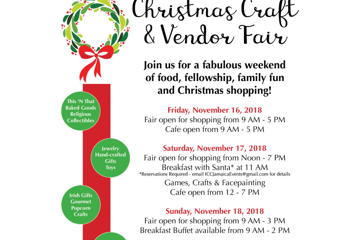 Christmas Craft Show Flyer.Icc Christmas Craft Vendor Fair Qedc It S In Queens