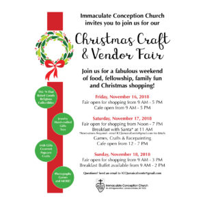ICC Christmas Craft & Vendor Fair @ Immaculate Conception Church | New York | United States