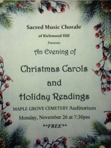 Sacred Music Chorale in Kew Gardens @ The Center at Maple Grove Cemetery | New York | United States
