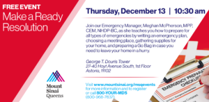 Make a Ready Resolution: Preparing for Any Emergency @ George T. Douris Tower | New York | United States