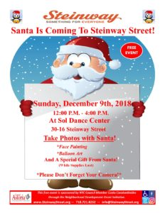 Santa Is Coming to Steinway Street!! @ Sol Dance Center | New York | United States