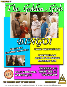 Golden Girls Bingo @ Q.E.D. | New York | United States