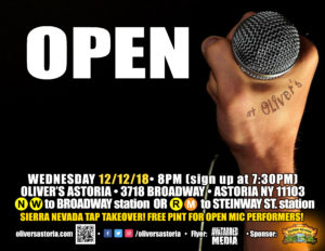 HUMPDAY OPEN MIC @ OLIVER'S ASTORIA @ Oliver's Asroria | New York | United States