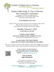 Martin Luther King Jr, Day of Service Conversation @ Victorian Admin Building at Maple Grove  | New York | United States