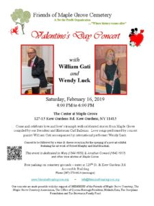 Valentine's Concert with Bill Gati & Wendy Luck, @ The Center at Maple Grove  | New York | United States