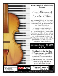 An Afternoon of Chamber Music @ The Church-in-the-Gardens | New York | United States