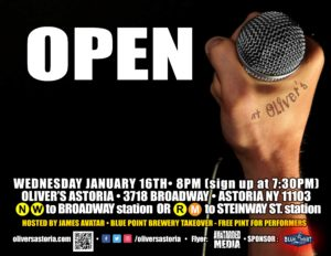 Humpday OPEN MIC w/James Avatar @ Oliver's Astoria | New York | United States
