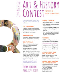 Queens Historical Society Art History Contest! @ Queens Historical Society  | New York | United States