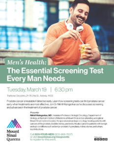 Men's Health: The Essential Screening Test Every Man Needs @ Trattoria L'incontro | New York | United States