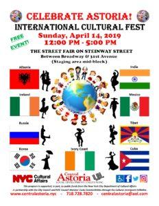 5th Annual Celebrate Astoria! International Cultural Fest!!! @ Street Fair on Steinway Street   New York   United States
