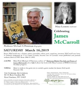 Meet the Author of 'Delicious Mirth: The Life and Times of James McCarroll', in Kew Gardens @ Victorian Admin Building at Maple Grove Cemetery | New York | United States