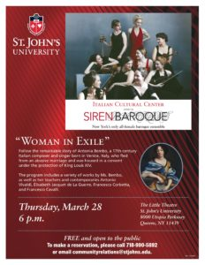 Siren Baroque Concert at St. John's Univeristy @ St. John's University  | New York | United States