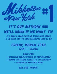 Mikkeller NYC Brewery 1st Birthday @ MIkkeller NYC Brewery  | New York | United States