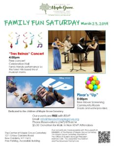 Family Fun Saturday in Kew Gardens @ The Center at Maple Grove Cemetery | New York | United States