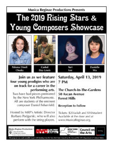 MRP Presents The 2019 Rising Stars & Young Composers Showcase @ The Church-in-the-Gardens | New York | United States