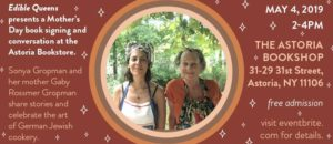 Sonya Gropman Books and Bites: Exploring the German-Jewish Cookbook @ Astoria Book Shop   New York   United States