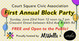Court Square Civic Summer Block Party @ M. Wells Steakhouse | New York | United States