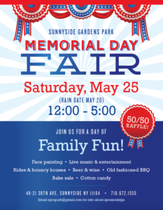 SUNNYSIDE GARDENS PARK ANNUAL MEMORIAL DAY FAIR @ Sunnyside Gardens Park | New York | United States
