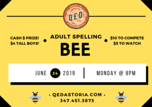 QED's Adult Spelling Bee @ QED | New York | United States