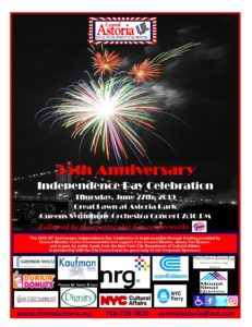 35th Anniversary Independence Day Celebration! @ Astoria Park Great Lawn | New York | United States